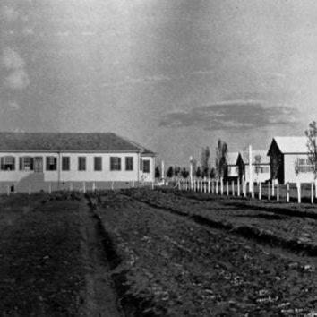 Escola de Trabalhadores Rurais Olegário Macedo, Castro, em 1943.