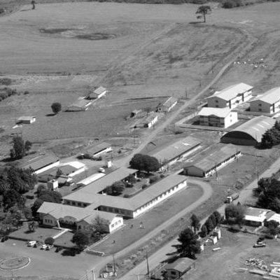 Vista aérea da Escola de Trabalhadores Rurais de Guarapuava - sem data.