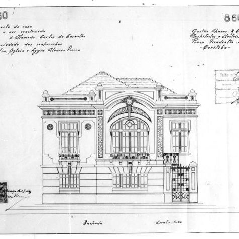 1 – Desenho da fachada principal.