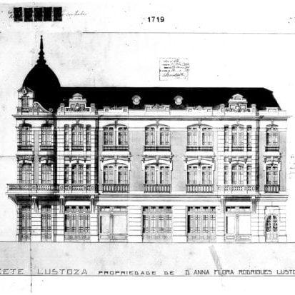 1 – Projeto arquitetônico da fachada lateral.
