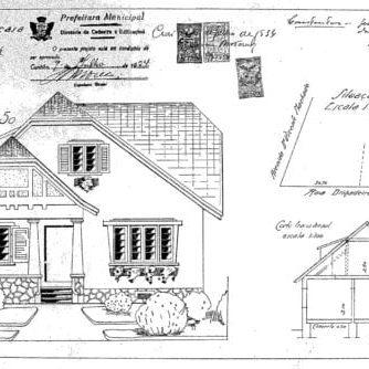 1 - Projeto Arquitetônico da fachada do imóvel.
