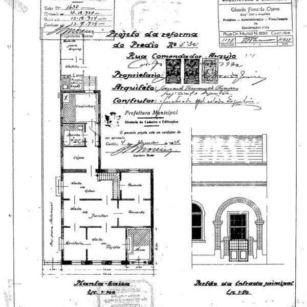 1- Projeto Arquitetônico.