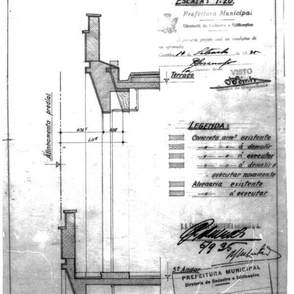 6 – Planta para modificação do 5º andar.