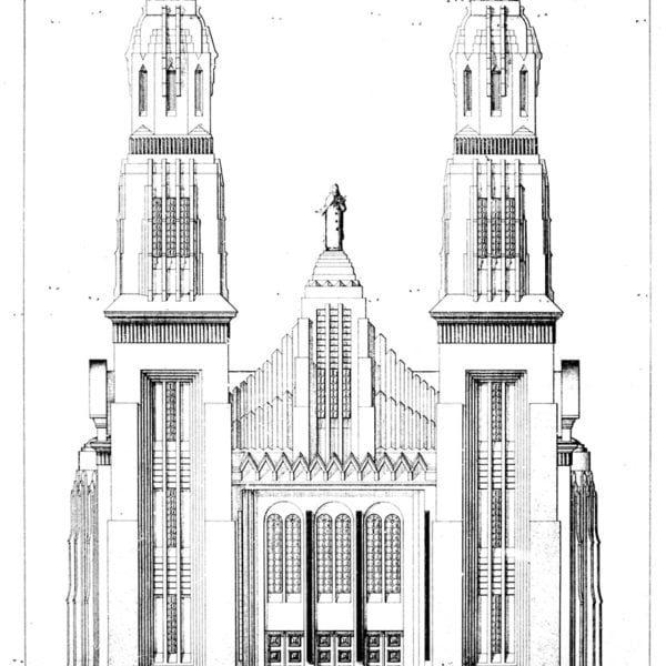 1 – Desenho da fachada principal da Igreja.