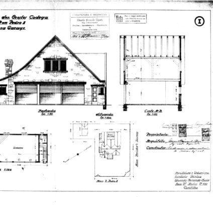 1 – Alvará de Construção com os Projetos para construção do muro e da garagem.