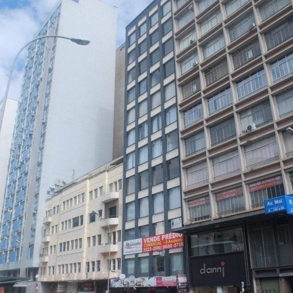Edifício Laporte Volpi (no centro da imagem) em 2017.