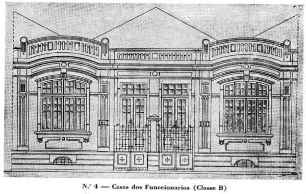1- Fachada de residência de Classe B projetada entre 1923-1924.