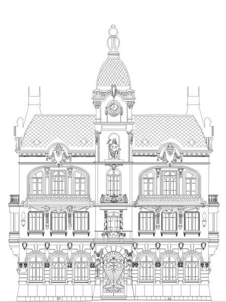 Fachada frontal do antigo Paço Municipal,