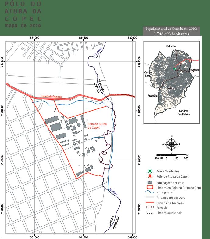 mapa o conjunto arquitetonico 2010