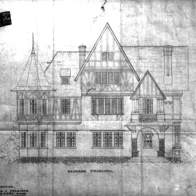 Vila Odette. fonte: Alvará n.° 2744, 3/10 /1923 - PMC.Acervo: Arquivo Público Municipal.