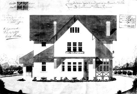 Residência de Guilherme Withers Juniorfonte: Alvará n.° 1.175, 4/ 4/1921 - PMC (Prefeitura Municipal de Curitiba). Acervo: Arquivo Público Municipal.